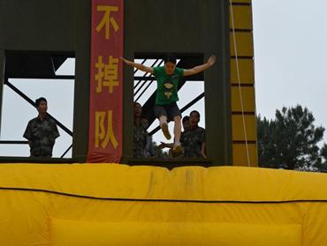 南京大金山高空救援