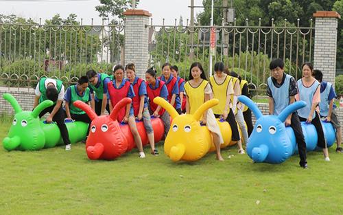 趣味运动会【毛毛虫】竞速旱地龙舟户外团队亲子拓展游戏