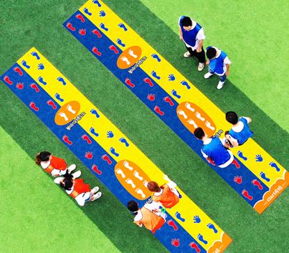 手脚并用手忙脚乱游戏,团建活动趣味运动会儿童游戏,户外拓展